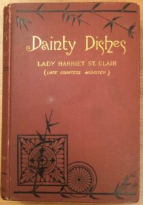 Colour image of the front cover of the book Dainty Dishes by Lady Harriet St Clair